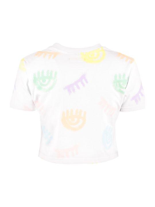 Chiara Ferragni Logomania Print Cropped T-shirt