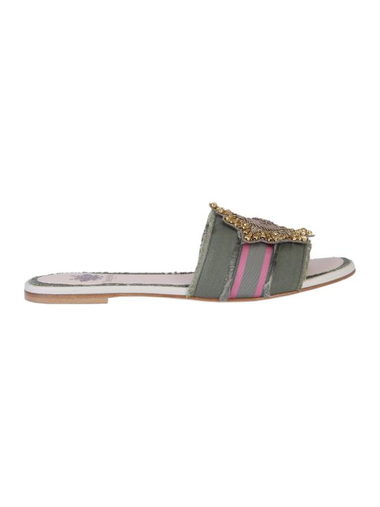 Mr & Mrs Italy Sandals With Embroidered Patch