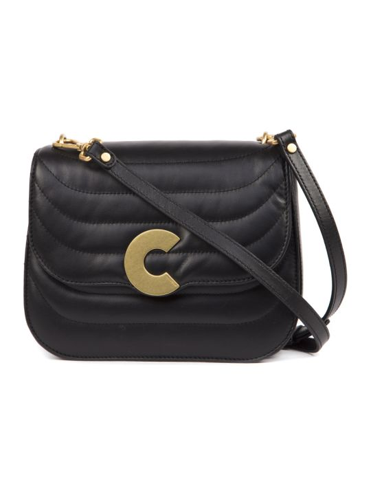 Coccinelle Craquante Black Leather Bag