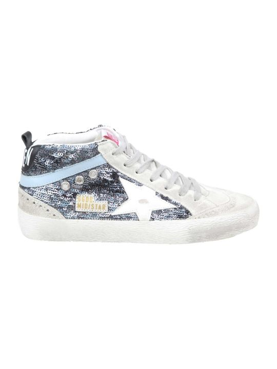 Golden Goose Pailettes Mid Star Sneakers