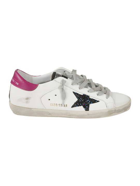Golden Goose Glittered Star Superstar Sneakers