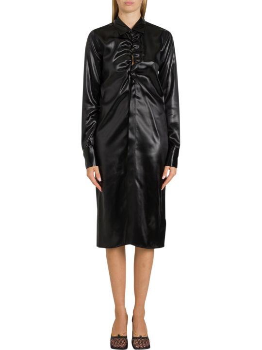 Bottega Veneta Satin Shirt Dress