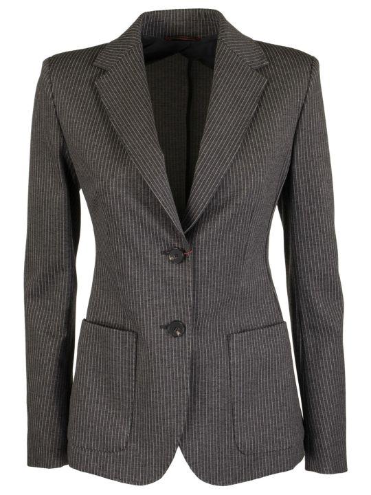 Max Mara Fosca Pinstripe Jacket In Viscose Jersey