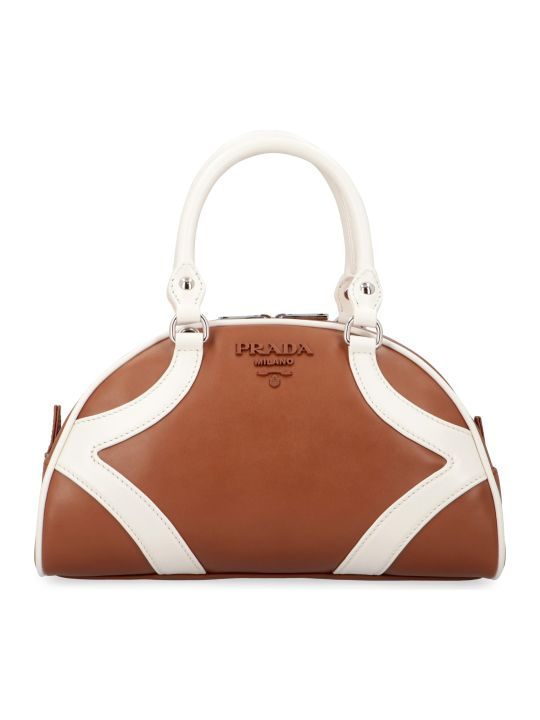 Prada Bowling Leather Handbag