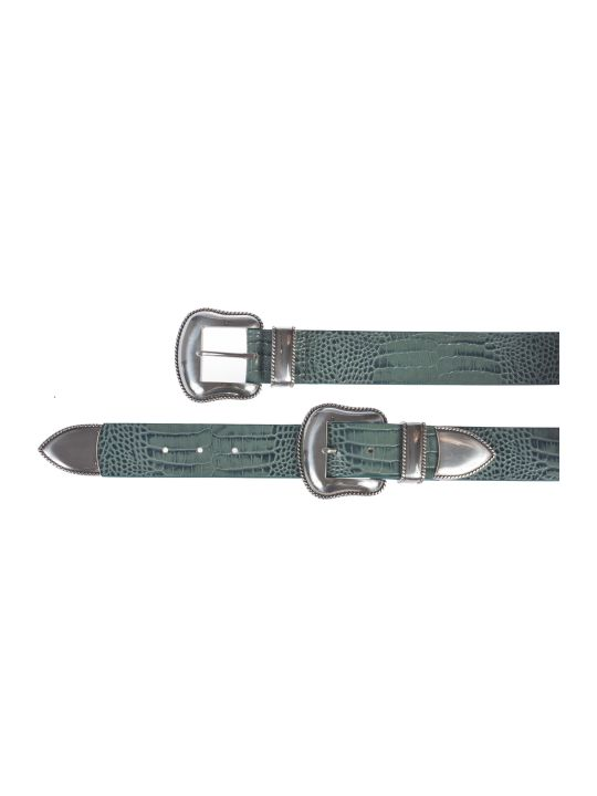B-Low the Belt Croc Effect Belt