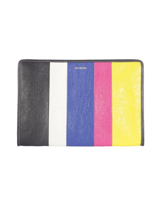 Balenciaga Color Blocked Clutch