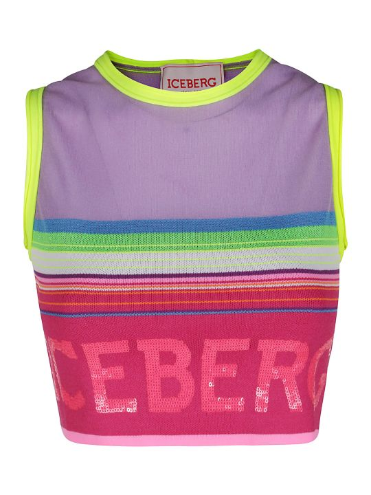 Iceberg Multicolor Viscose Blend Top