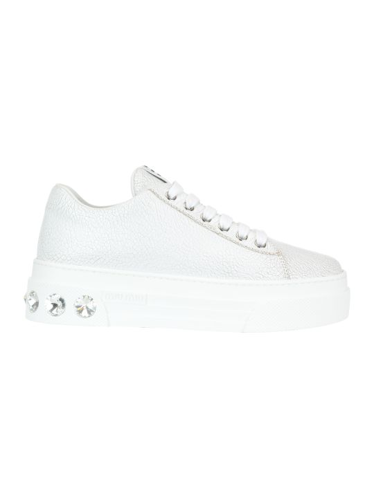 Miu Miu Leather Sneakers