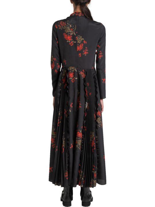 RED Valentino Oriental Floral-print Chiffon Maxi Dress