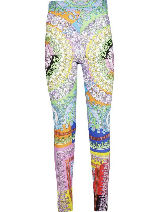 Versace Floral Pattern Print Leggings