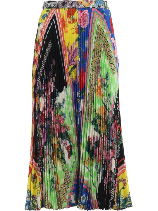 Versace Acid Bloom Printed Skirt