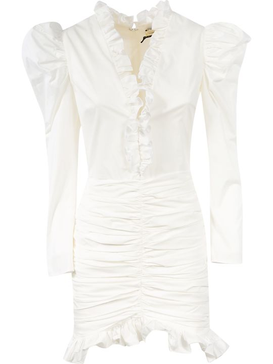 Giuseppe di Morabito Ruffled Detail Mid-length Dress