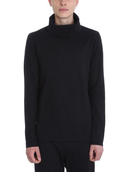 Attachment Black Cotton Sweater