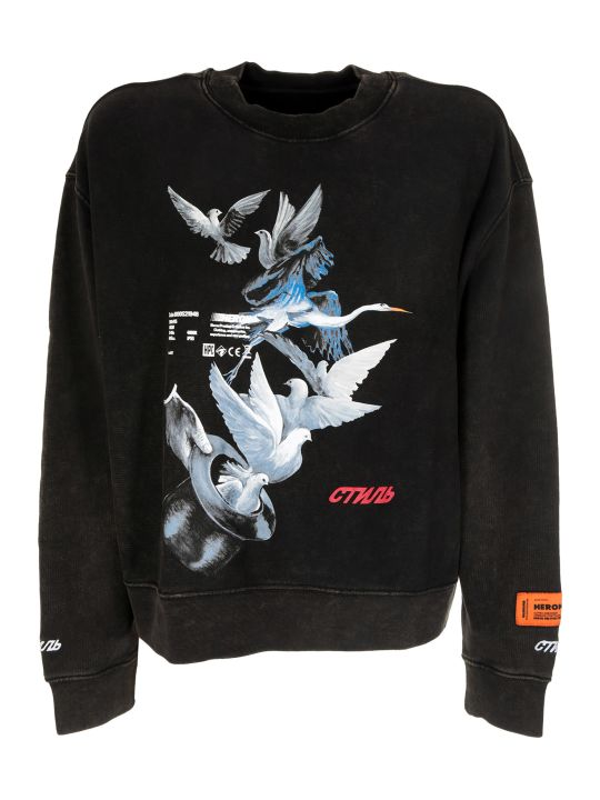 HERON PRESTON Magic Doves Print T-shirt