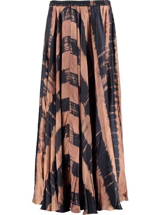 Mes Demoiselles Printed Satin Skirt