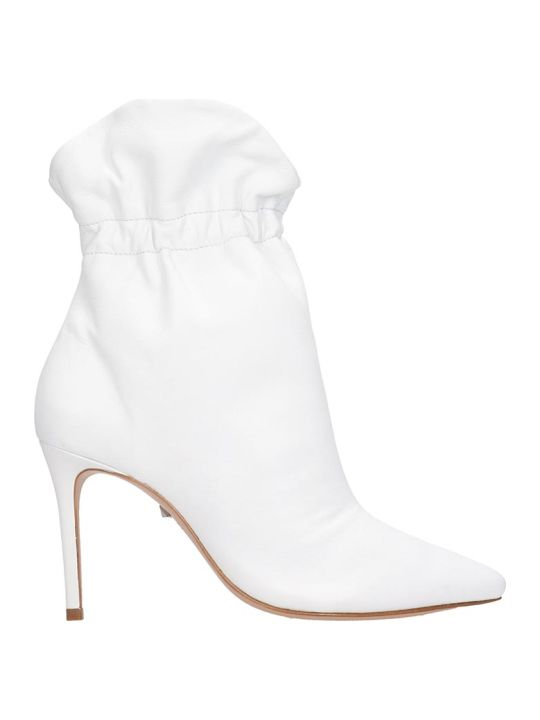 Schutz Dira Ankle Boots In White Leather