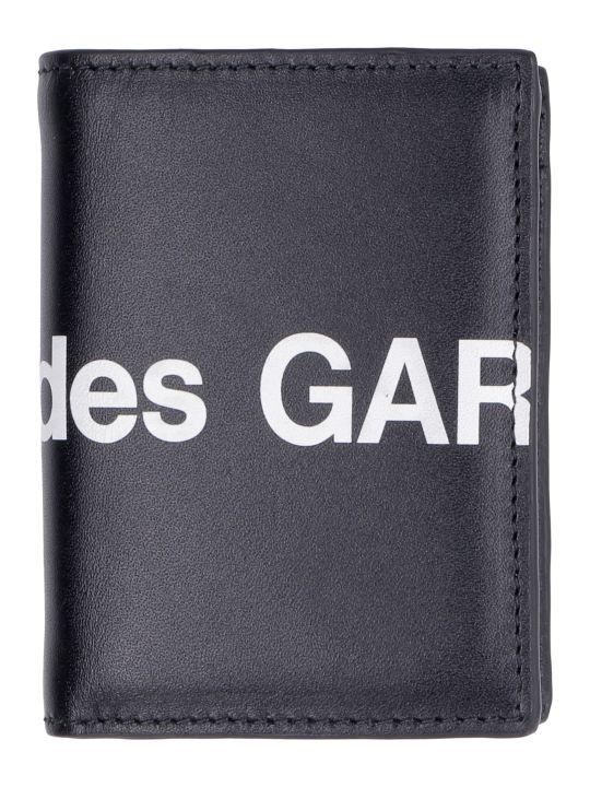Comme des Garçons Wallet Huge Logo Print Leather Wallet