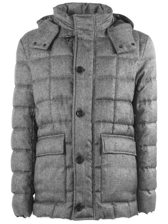 Fay Down Coat In Grey High Tech Fabric