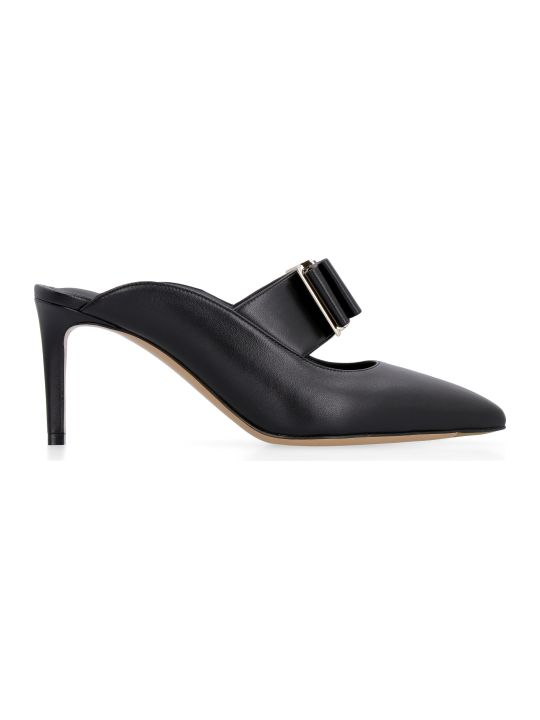 Salvatore Ferragamo Leather Pointy Mules