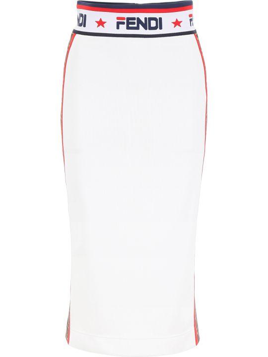 Fendi Fendi Mania Pencil Skirt