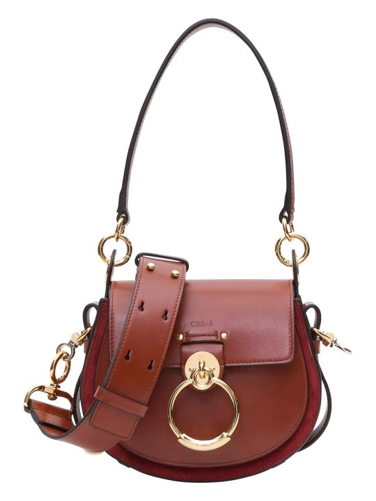Chloé Tess Small Bag In Shiny And Suede Calfskin 20.5 X 17.5 X 6 Cm