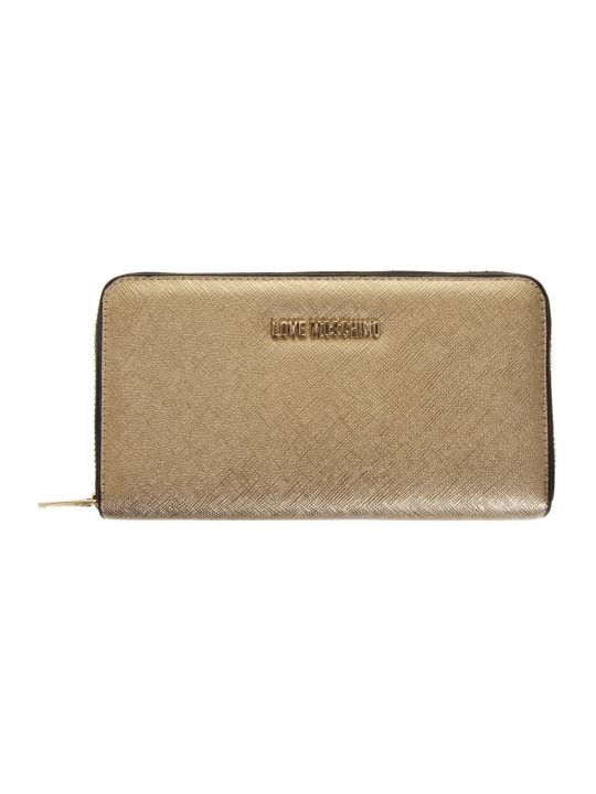 Love Moschino Gold Color Faux Leather Love Moschino Wallet
