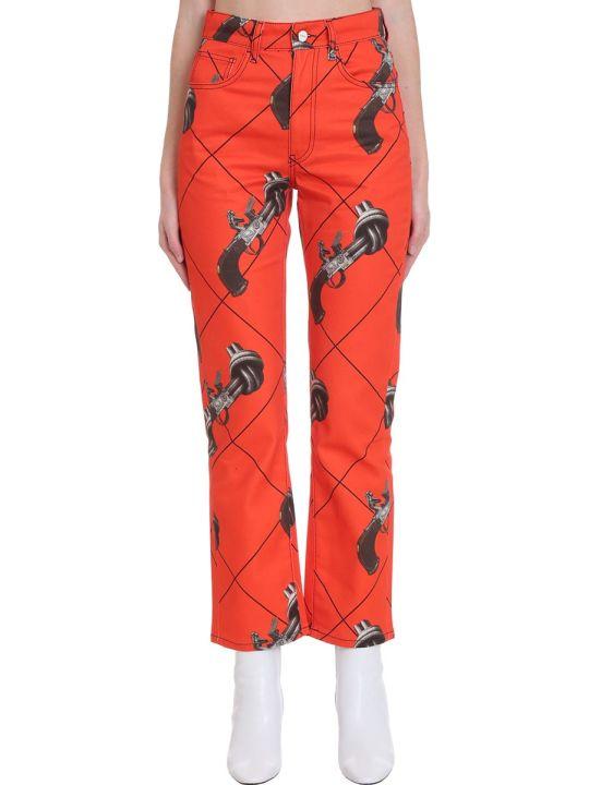 Kirin Pants In Orange Denim