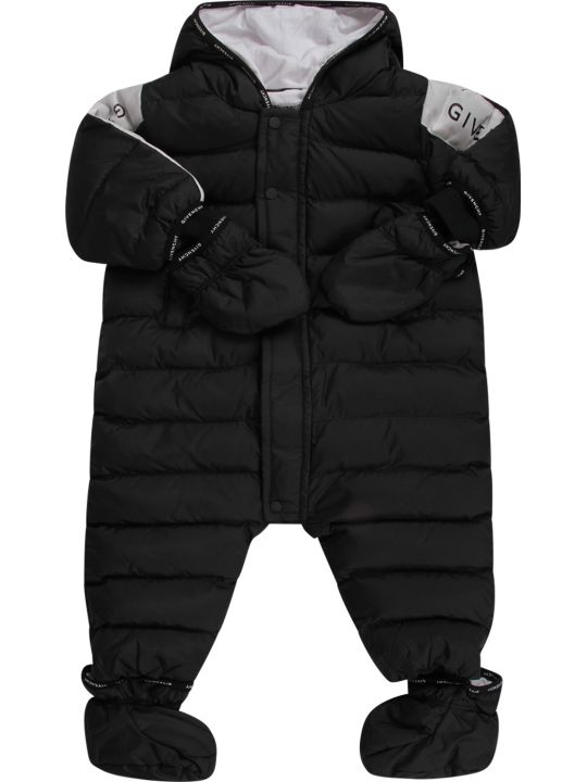 Givenchy Black Babykids Puff Overall With Logo