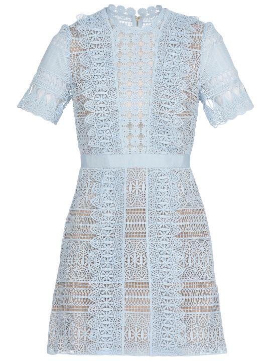 self-portrait Spiral Panel Lace Dress