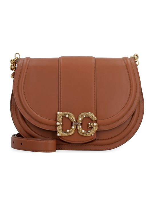 Dolce & Gabbana Dg Amore Medium Leather Crossbody Bag