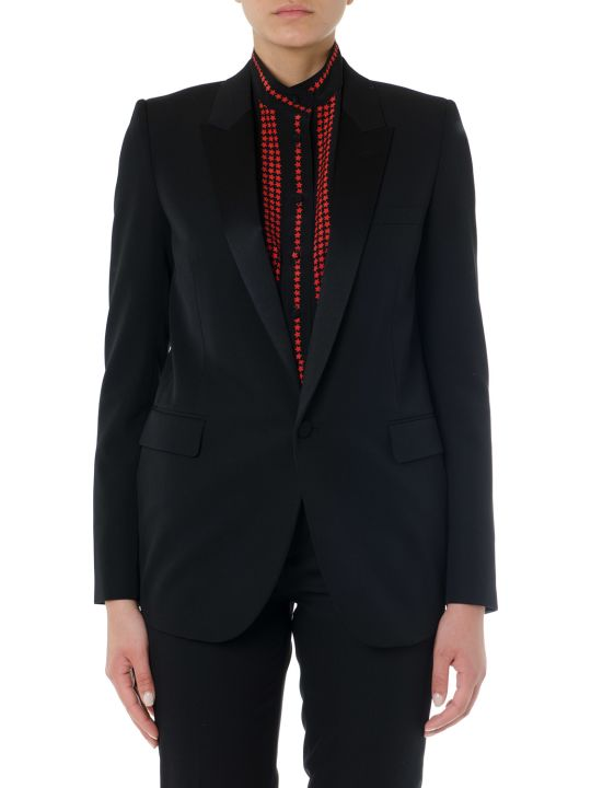 Saint Laurent Black Wool Single Breast Jacket