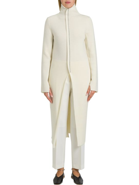Jil Sander Extralong Turtleneck With Central Slit
