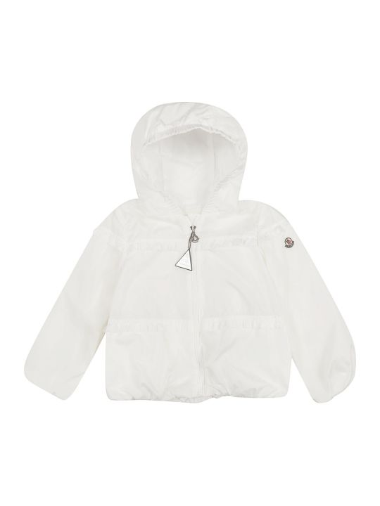 Moncler Kids Frill-trim Hooded Jacket