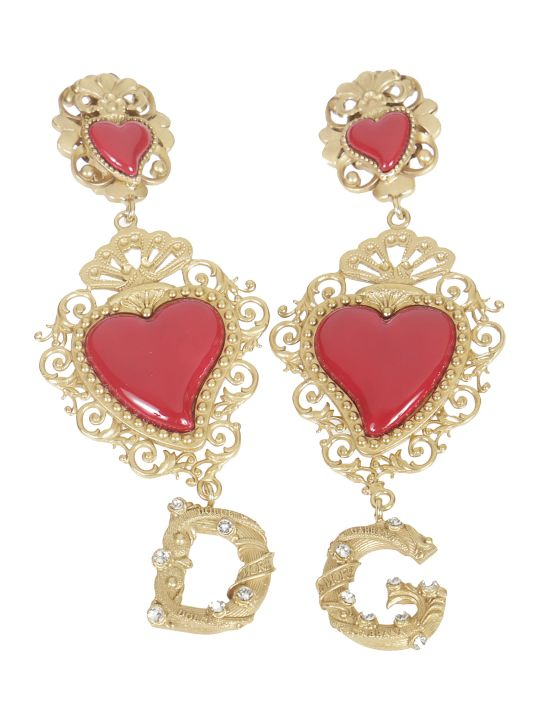 Dolce & Gabbana Heart Logo Earrings