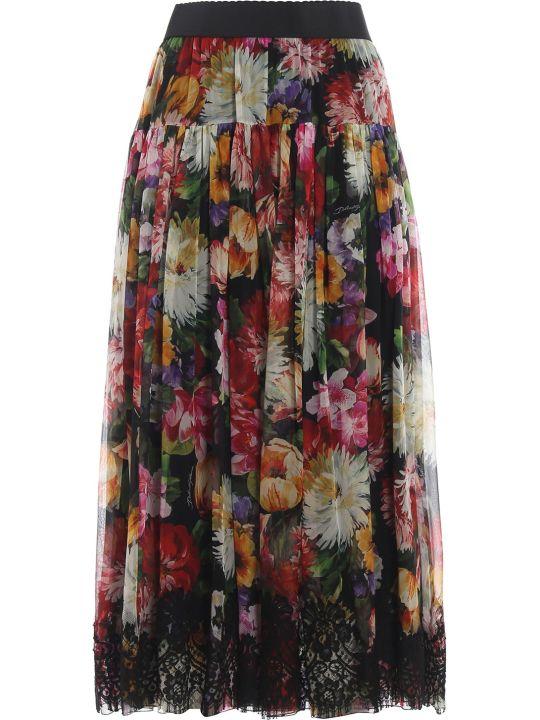 Dolce & Gabbana Dolce Gabbana Floral Print Skirt