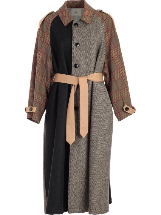 Barena Trench Over W/patchwork