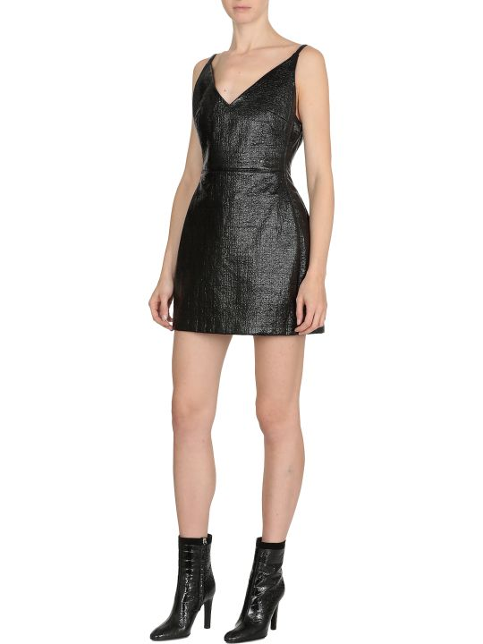 David Koma Patent Mini Dress