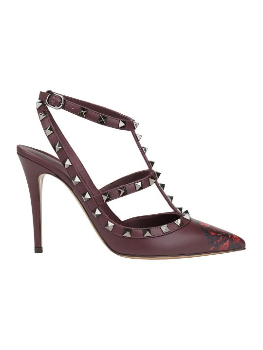 Valentino Garavani Rockstuds Ankle Strap Pumps