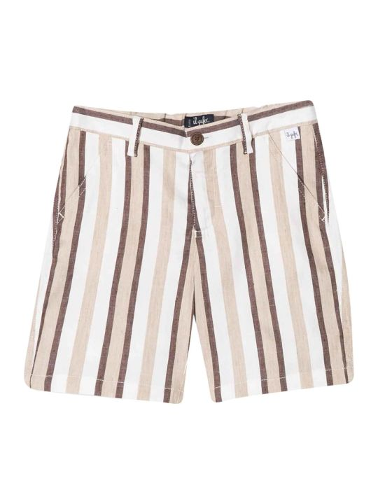 Il Gufo Striped Bermuda Shorts Gufo Kids