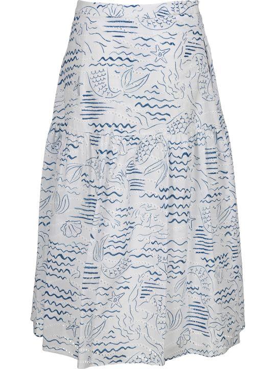 Kenzo 'wave Mermaid' Midi Skirt