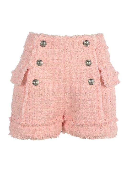 Balmain Balmain High-waisted Tweed Shorts