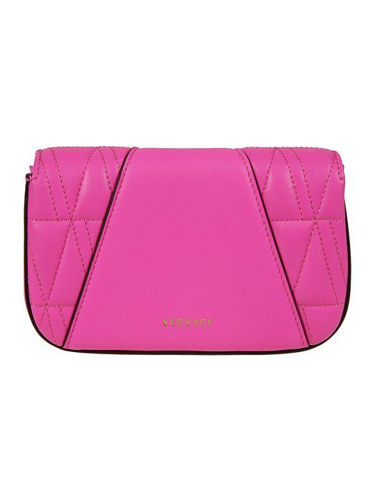 Versace Logo Plaque Padded Shoulder Bag