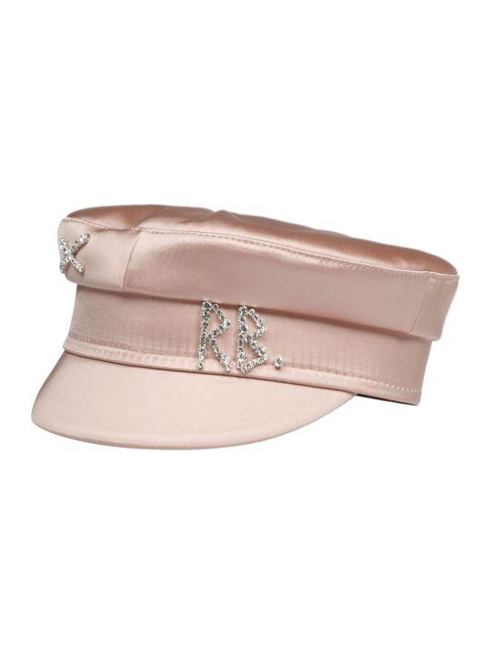 Ruslan Baginskiy Crystal Satin Baker Hat