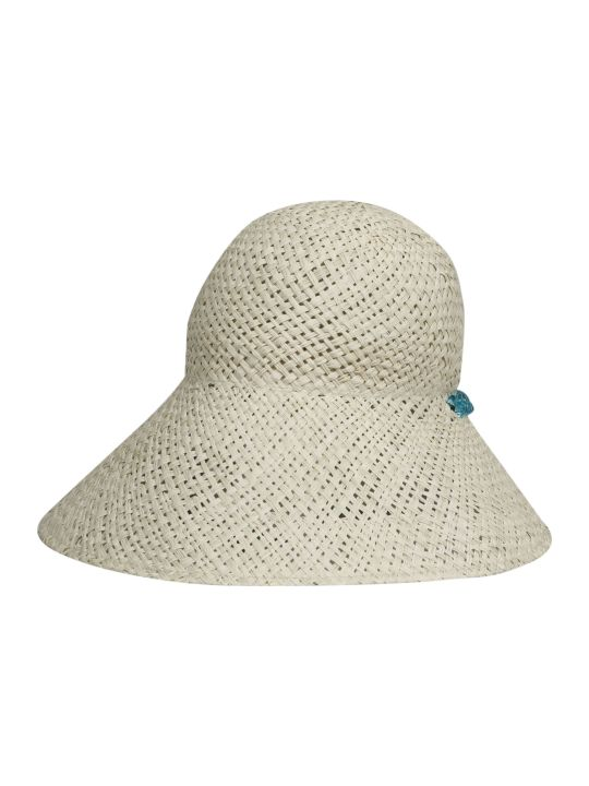 Maison Michel Julianne Chain Raffia Cloche Hat