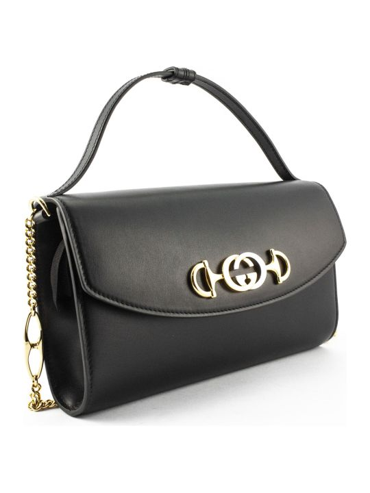 Gucci Gucci Zumi Black Leather Shoulder Bag