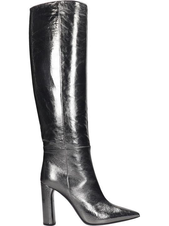 Casadei Visione Boots In Silver Leather