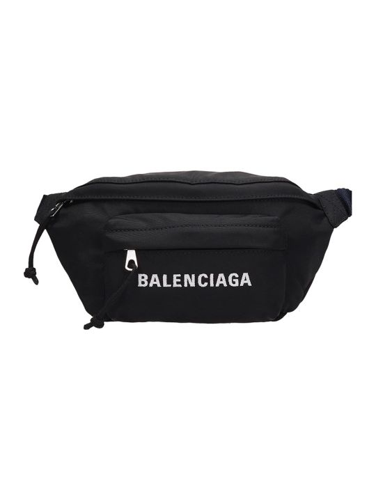 Balenciaga Black Technical Fabric Beltbag