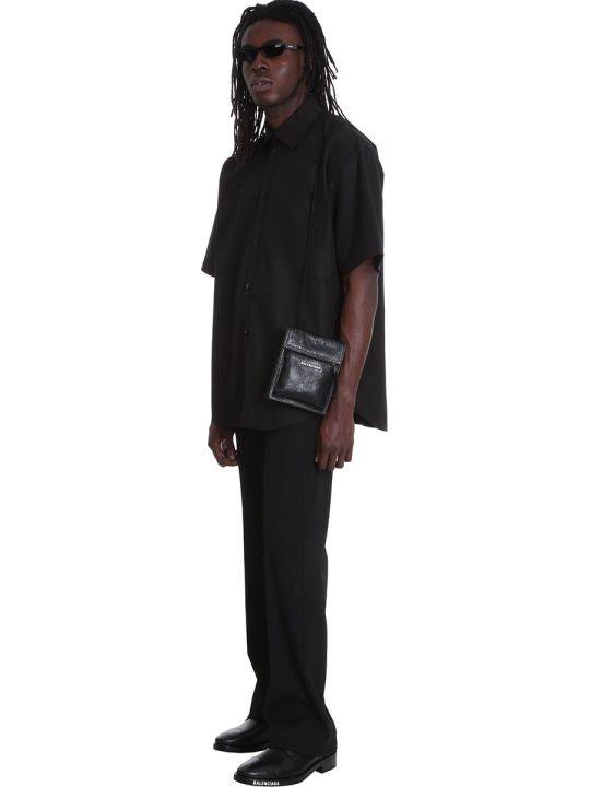 Balenciaga Shirt In Black Cotton