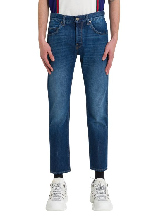 Gucci Cropped Blue Jeans