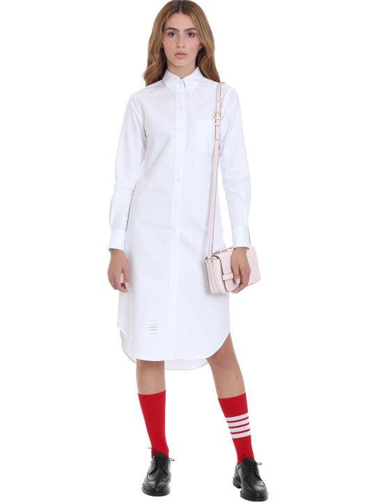 Thom Browne Dress In White Cotton